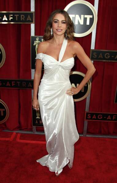 Actress Sofia Vergara arrives  at the 19th Annual Screen Actors Guild Awards at the Shrine Auditoriu
