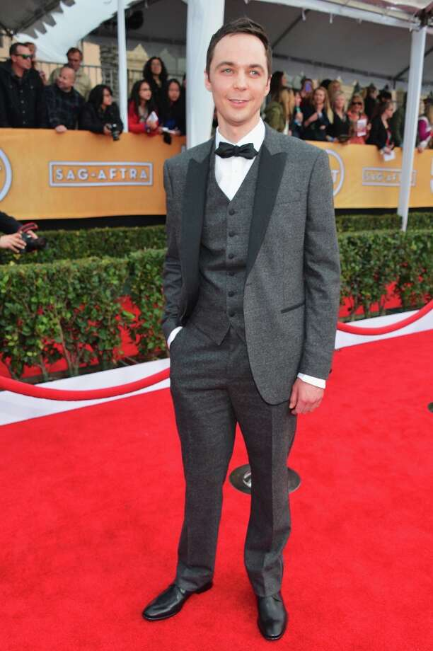 Actor Jim Parsons arrives at the 19th Annual Screen Actors Guild Awards held at The Shrine Auditorium on January 27, 2013 in Los Angeles, California. Photo: Alberto E. Rodriguez, Getty Images / 2013 Getty Images