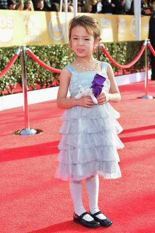 Actress Aubrey Anderson-Emmons arrives at the 19th Annual Screen Actors Guild Awards held at The Shrine Auditorium on January 27, 2013 in Los Angeles, California. Photo: Alberto E. Rodriguez, Getty Images / 2013 Getty Images