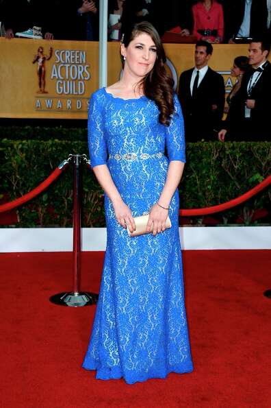 Actress Mayim Bialik arrives at the 19th Annual Screen Actors Guild Awards held at The Shrine Audito
