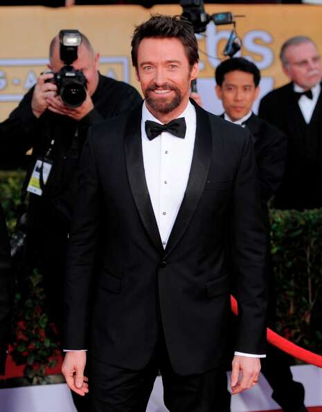 Hugh Jackman arrives at the 19th Annual Screen Actors Guild Awards at the Shrine Auditorium in Los A