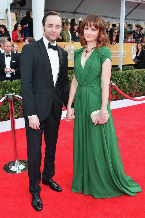 LOS ANGELES, CA - JANUARY 27:  Actors Vincent Kartheiser (L) and Alexis Bledel arrive at the 19th Annual Screen Actors Guild Awards held at The Shrine Auditorium on January 27, 2013 in Los Angeles, California. Photo: Alberto E. Rodriguez, Getty Images / 2013 Getty Images