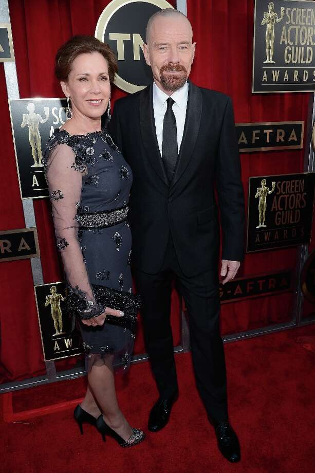 LOS ANGELES, CA - JANUARY 27:  Actors Bryan Cranston (R) and Robin Dearden arrive at the 19th Annual Screen Actors Guild Awards held at The Shrine Auditorium on January 27, 2013 in Los Angeles, California. Photo: Kevork Djansezian, Getty Images / 2013 Getty Images