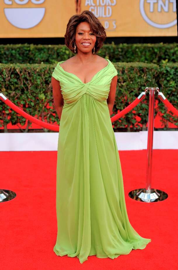 Alfre Woodard arrives at the 19th Annual Screen Actors Guild Awards at the Shrine Auditorium in Los Angeles on Sunday, Jan. 27, 2013. (Photo by Chris Pizzello/Invision/AP) Photo: Chris Pizzello, Associated Press / Invision