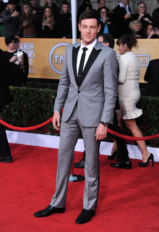 Actor Cory Monteith arrives at the 19th Annual Screen Actors Guild Awards at the Shrine Auditorium in Los Angeles on Sunday, Jan. 27, 2013. (Photo by Jordan Strauss/Invision/AP) Photo: Jordan Strauss, Associated Press / Invision