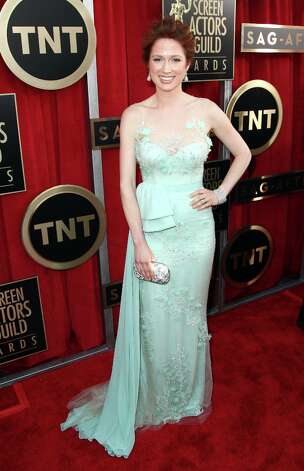 Actress Ellie Kemper arrives at the 19th Annual Screen Actors Guild Awards at the Shrine Auditorium in Los Angeles on Sunday Jan. 27, 2013. (Photo by Matt Sayles/Invision/AP) Photo: Matt Sayles, Associated Press / Invision