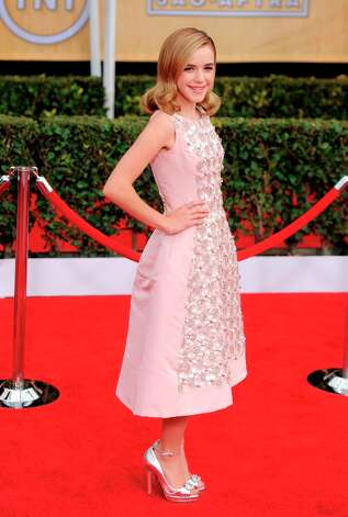 Kiernan Shipka arrives at the 19th Annual Screen Actors Guild Awards at the Shrine Auditorium in Los Angeles on Sunday, Jan. 27, 2013. (Photo by Chris Pizzello/Invision/AP) Photo: Chris Pizzello, Associated Press / Invision