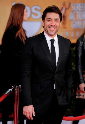 Actor Javier Bardem arrives at the 19th Annual Screen Actors Guild Awards at the Shrine Auditorium in Los Angeles on Sunday, Jan. 27, 2013. (Photo by Chris Pizzello/Invision/AP) Photo: Chris Pizzello, Associated Press / Invision