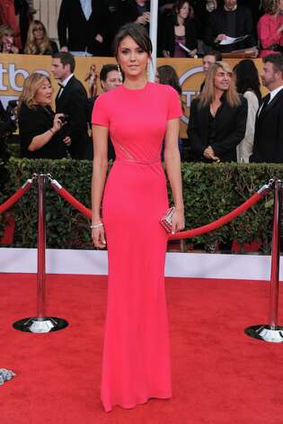 Actress Nina Dobrev arrives at the 19th Annual Screen Actors Guild Awards at the Shrine Auditorium in Los Angeles on Sunday, Jan. 27, 2013. (Photo by Jordan Strauss/Invision/AP) Photo: Jordan Strauss, Associated Press / Invision