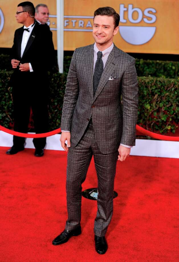 Justin Timberlake arrives at the 19th Annual Screen Actors Guild Awards at the Shrine Auditorium in Los Angeles on Sunday Jan. 27, 2013. (Photo by Chris Pizzello/Invision/AP) Photo: Chris Pizzello, Associated Press / Invision