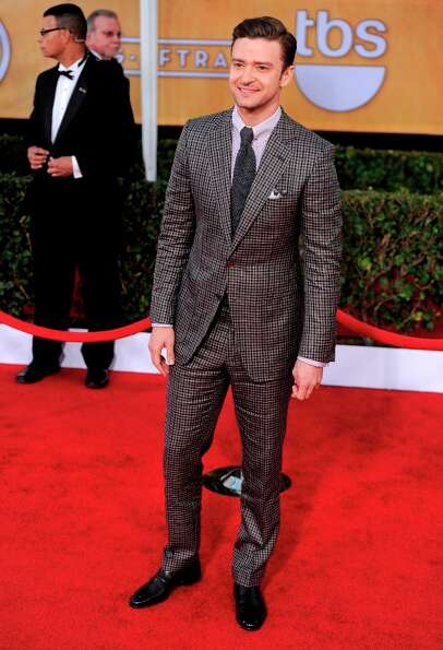 Justin Timberlake arrives at the 19th Annual Screen Actors Guild Awards at the Shrine Auditorium in