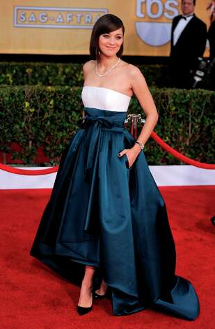 Atress Marion Cotillard arrives at the 19th Annual Screen Actors Guild Awards at the Shrine Auditorium in Los Angeles on Sunday Jan. 27, 2013. (Photo by Chris Pizzello/Invision/AP) Photo: Chris Pizzello, Associated Press / Invision