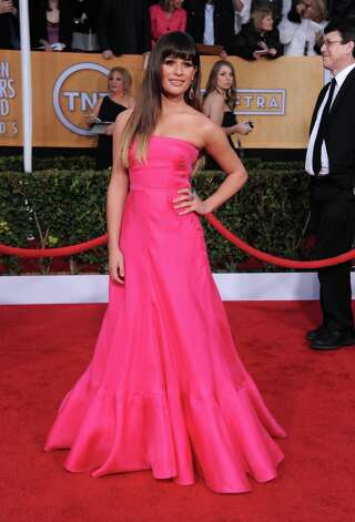 Actress Lea Michele arrives at the 19th Annual Screen Actors Guild Awards at the Shrine Auditorium in Los Angeles on Sunday Jan. 27, 2013. (Photo by Jordan Strauss/Invision/AP) Photo: Jordan Strauss, Associated Press / Invision