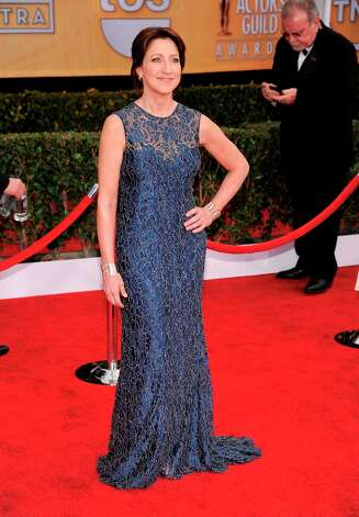 Edie Falco arrives at the 19th Annual Screen Actors Guild Awards at the Shrine Auditorium in Los Angeles on Sunday Jan. 27, 2013. (Photo by Chris Pizzello/Invision/AP) Photo: Chris Pizzello, Associated Press / Invision