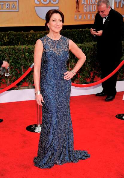 Edie Falco arrives at the 19th Annual Screen Actors Guild Awards at the Shrine Auditorium in Los Ang