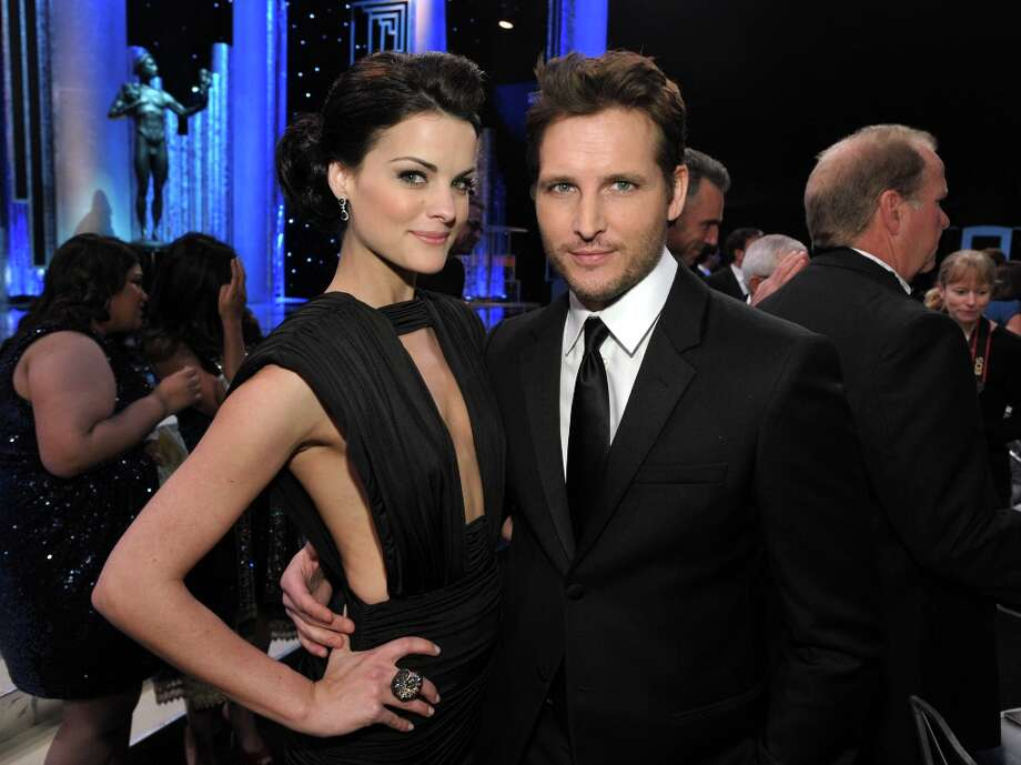 Jamie Alexander, left, and Peter Facinelli pose in the audience at the 19th Annual Screen Actors Guild Awards at the Shrine Auditorium in Los Angeles on Sunday, Jan. 27, 2013. (Photo by John Shearer/Invision/AP) Photo: John Shearer, Associated Press / Invision