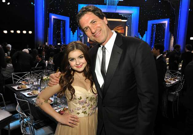 Ariel Winter, left, and Steven Levitan pose in the audience at the 19th Annual Screen Actors Guild Awards at the Shrine Auditorium in Los Angeles on Sunday Jan. 27, 2013. (Photo by John Shearer/Invision/AP) Photo: John Shearer, Associated Press