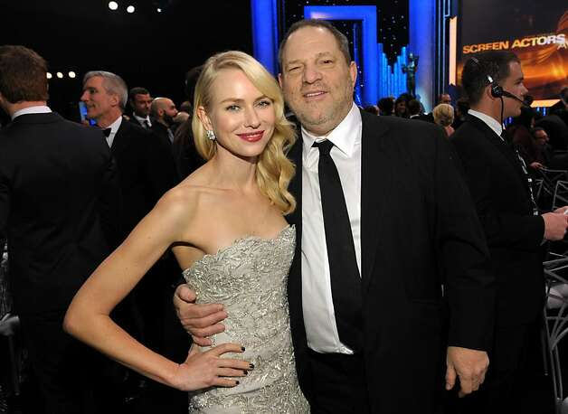 Naomi Watts, left, and Harvey Weinstein pose in the audience at the 19th Annual Screen Actors Guild Awards at the Shrine Auditorium in Los Angeles on Sunday Jan. 27, 2013. (Photo by John Shearer/Invision/AP) Photo: John Shearer, Associated Press