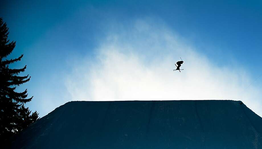 Kaya Turski flies off the final jump on her last run during the women's ski slopestyle finals at the Winter X Games on Sunday, Jan. 27, 2013, at Buttermilk Mountain in Aspen, Colo. Turski placed second in the event with a run of 90.00. Photo: Michael Ciaglo, Associated Press