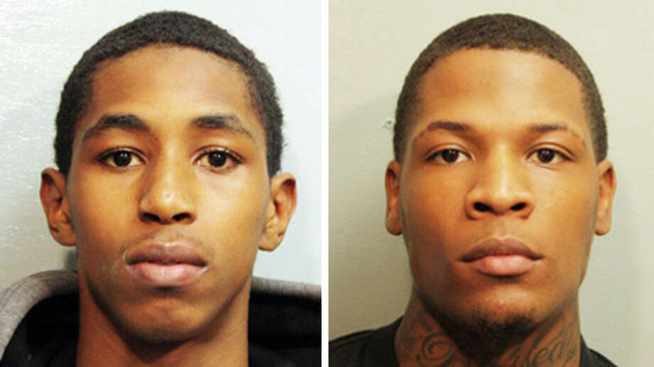 The suspects were identified as Carlton Berry, left, and Trey Foster. Berry was later cleared. (Harris County Sheriff's Office) Photo: Ho