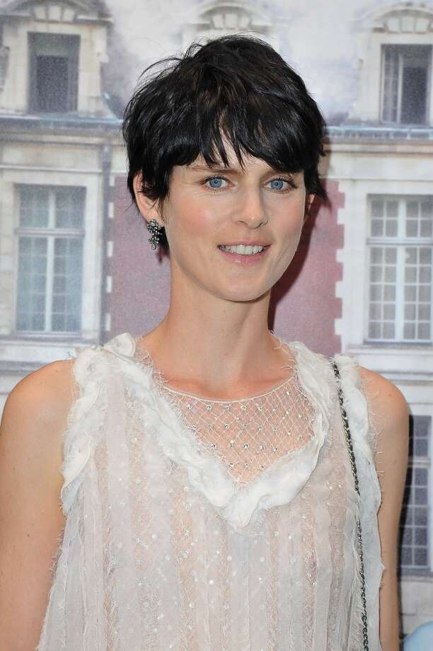Stella Tennant rocks a short do at the 'The White Fairy Tale Love Ball' at Chateau De Wideville in Crespieres, France.