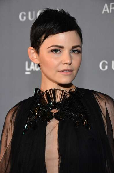 Actress Ginnifer Goodwin wears her signature pixie cut in Los Angeles.