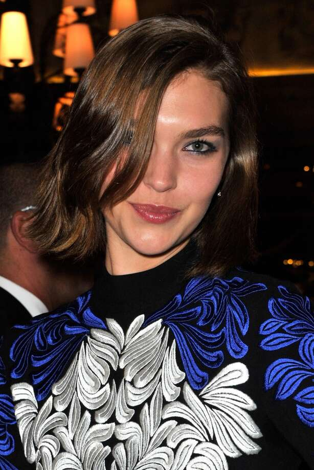 Arizona Muse looks stunning in her short wavy cut at the Gstaad Palace Hotel in Gstaad, Switzerland.