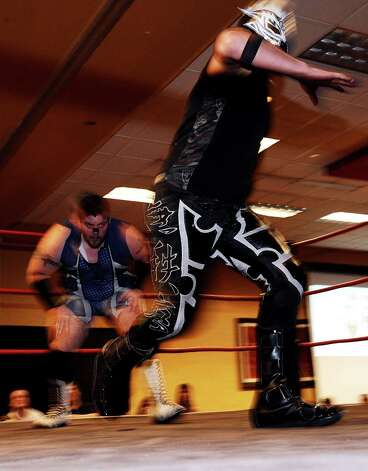 Gulf Coast Professional Power Wrestling and Lucha Libre battled it out at the Holiday Inn on Walden Road in Beaumont on Saturday, January 26, 2013 for the Wrestling Extravaganza. Photo taken: Randy Edwards/The Enterprise