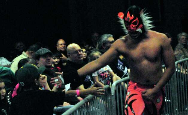Gulf Coast Professional Power Wrestling and Lucha Libre battled it out at the Holiday Inn on Walden Road in Beaumont on Saturday, January 26, 2013 for the Wrestling Extravaganza. Photo taken: Cassie Smith/The Enterprise