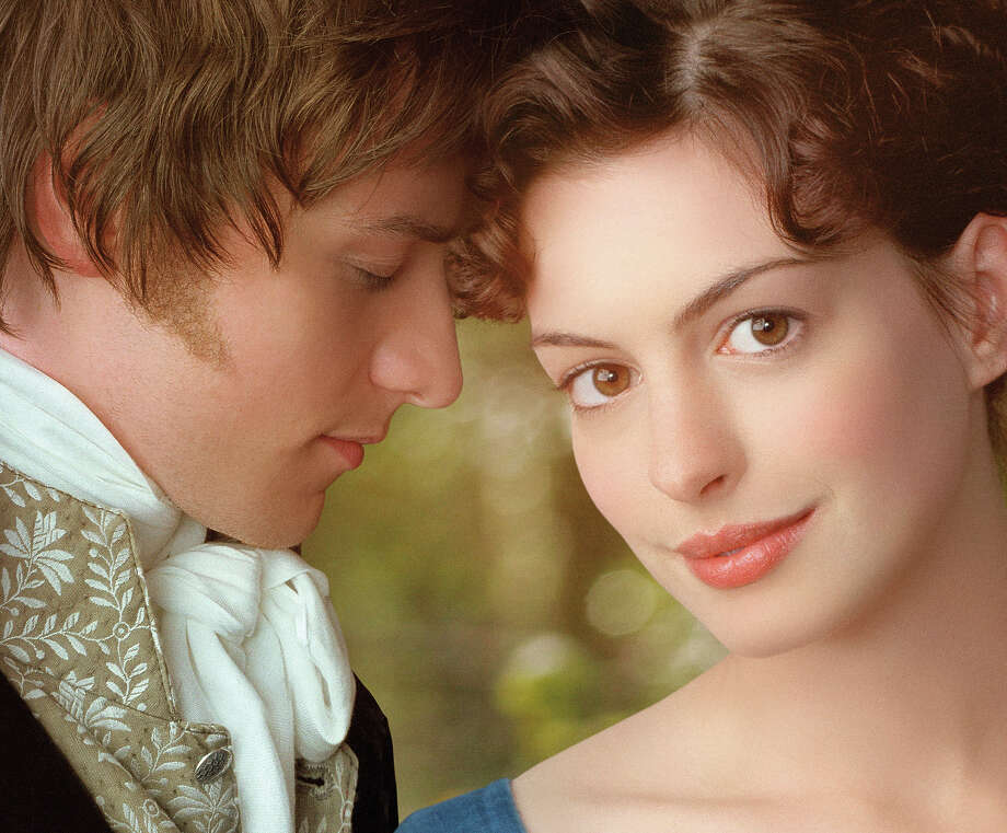 "In 2007, Anne Hathaway, right, portrayed the author opposite James McAvoy in ""Becoming Jane"" in 2007. Photo: Anonymous, ASSOCIATED PRESS / AP2007"