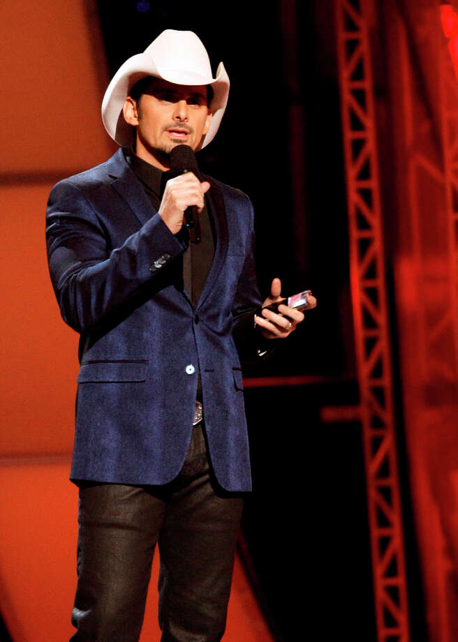 Host Brad Paisley speaks onstage at the 46th Annual Country Music Awards at the Bridgestone Arena on Thursday, Nov. 1, 2012, in Nashville, Tenn. Photo: Wade Payne, Wade Payne/Invision/AP / Invision