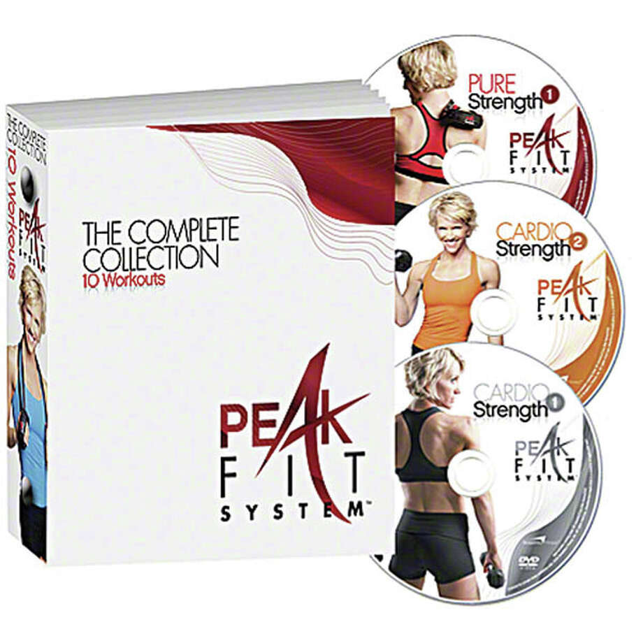 Reach Your PeakReach your fitness peak with this workout system from trainer Michelle Dozois that was designed to burn major fat and calories using repetitive cycles of peaks and rests with moves that trick your body into performing at a higher level. The package includes 10 easy-to-follow DVDs, a nutrition guide, a workout calendar, tape measure and a challenge resistance band. $89.95. Visit peakfitsystem.com.