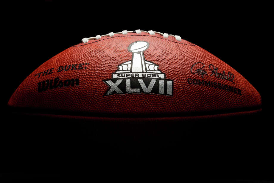 An official game ball for the NFL football Super Bowl XLVII. Tuesday, Jan. 22, 2013. The Wilson Sporting Goods football factory in Ada, Ohio, which has made the official Super Bowl football since the first Super Bowl in 1966, began making the this year's game balls Sunday night immediately after the conclusion of the NFC and AFC championship games.The San Francisco Forty Niners will play the Baltimore Ravens in the Super Bowl on Feb. 3 in New Orleans. (AP Photo/Rick Osentoski) Photo: Rick Osentoski, ASSOCIATED PRESS / Rick Osentoski2012