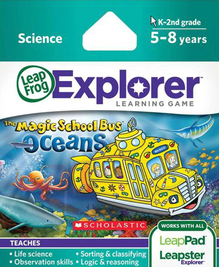 LeapFrog Explorer Learning Game: The Magic School Bus: Oceans: on a field trip under the ocean with the wacky Ms. Frizzle, kids learn about the types of animals that live in different parts of the ocean, their attributes, and food chains. Age 6. Platforms: Leapster Explorer, LeapPad Explorer, LeapPad2, LeapsterGS. More at CommonSenseMedia.org.