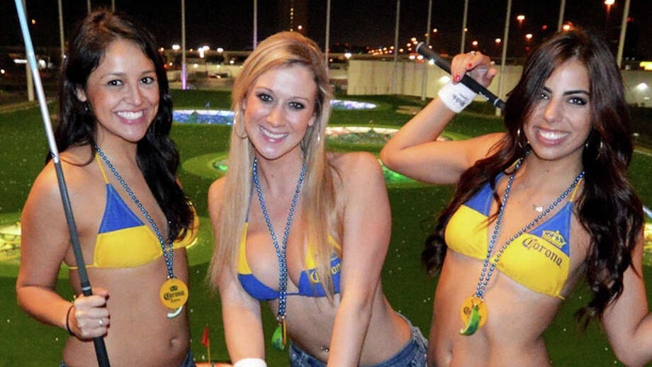 """Summer in January,"" as in this bikini-weather photo from last month's TopGolf party.- Just_One"
