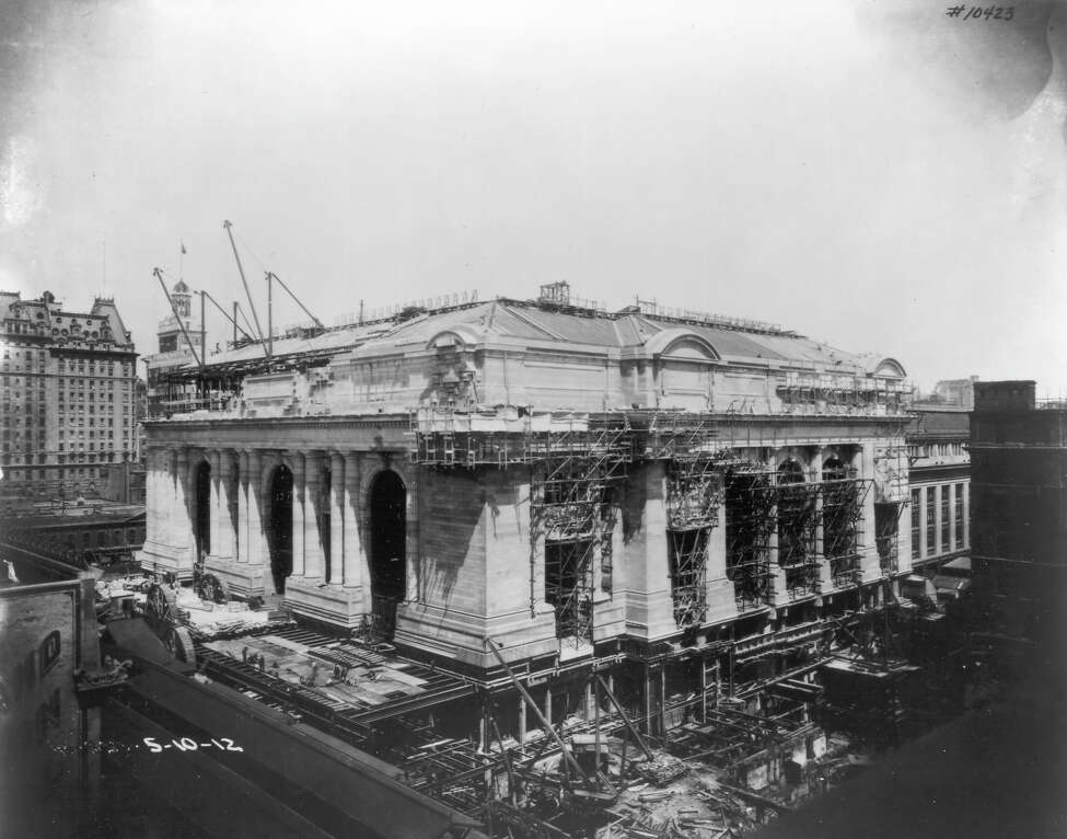 Grand Central Terminal, under construction in 1912.
