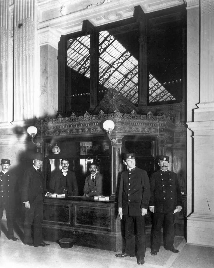 Firemen at the Grand Central Terminal, posing at the fire station. Photo: ASSOCIATED PRESS