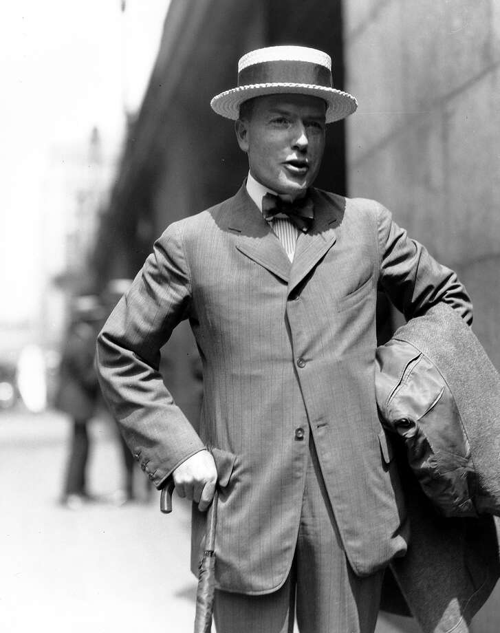 John D. Rockefeller Jr., is pictured outside Grand Central Station in New York as he left for a trip to China in Aug. 11, 1921.  (AP Photo) Photo: ASSOCIATED PRESS / AP1921