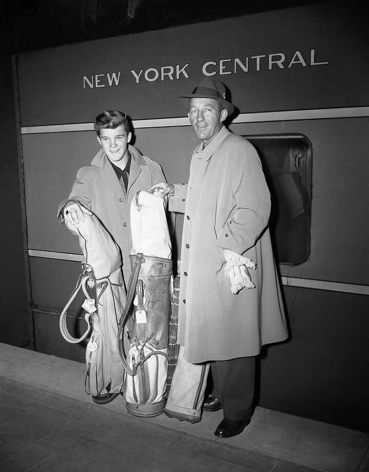 Bing Crosby, of radio and television, is with his son Lindsay as they arrive at Grand Central in 1953 on the 20th Century from West Coast. The father and son were heading to Europe on the Queen Elizabeth for a few months vacation. Photo: Dan Grossi, ASSOCIATED PRESS / AP1953