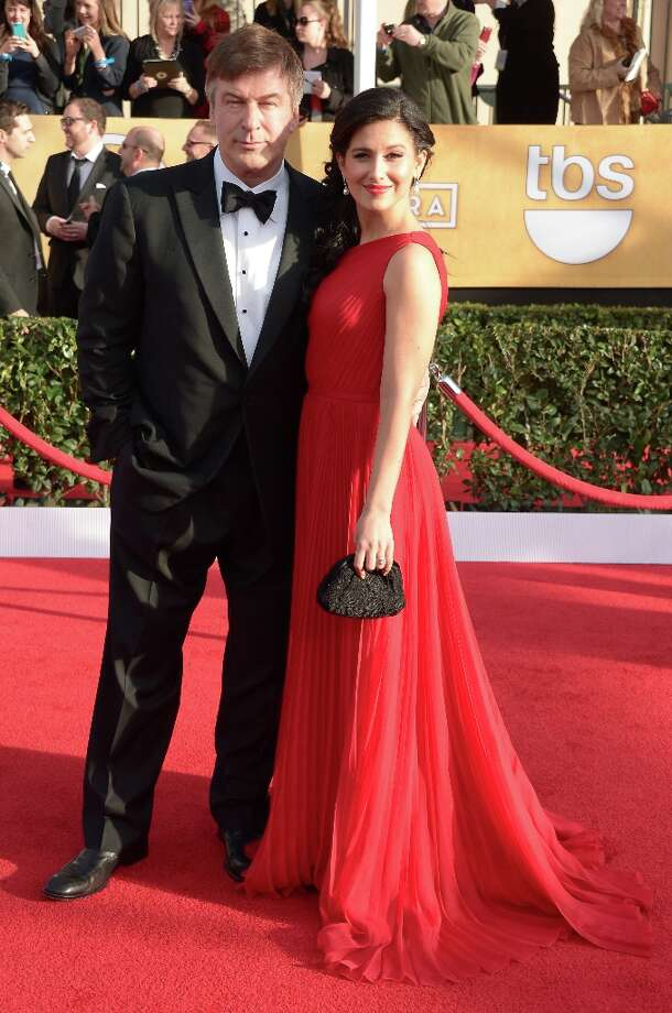 Actor Alec Baldwin arrives with his wife Hilaria Baldwin for the 19th Screen Actors Guild Awards on January 27, 2013 at the Shrine Auditorium in Los Angeles, California.   AFP PHOTO/Joe KlamarJOE KLAMAR/AFP/Getty Images Photo: JOE KLAMAR, AFP/Getty Images / AFP