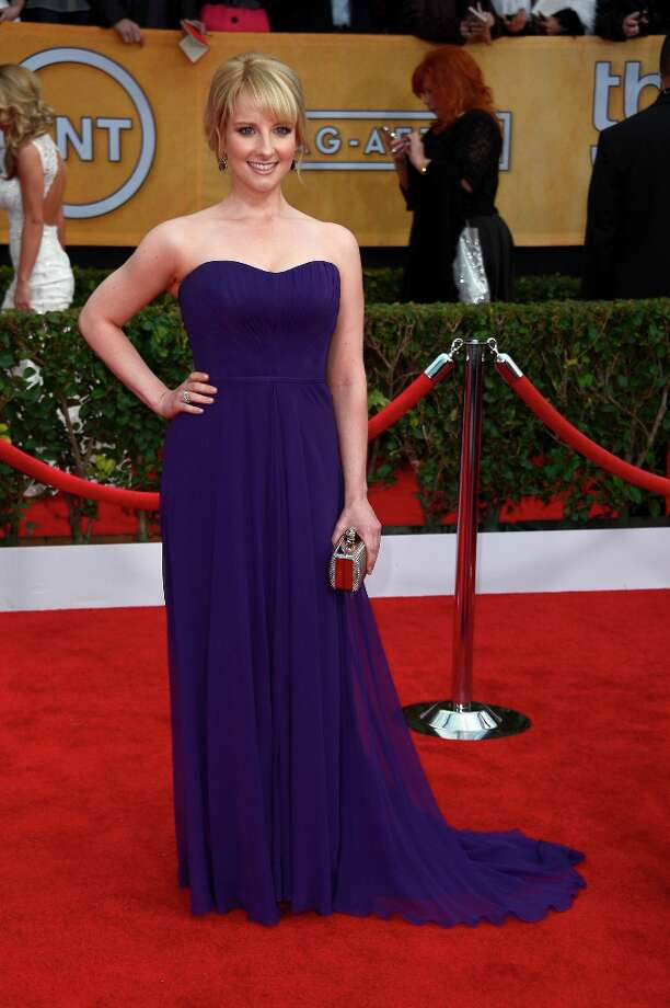 LOS ANGELES, CA - JANUARY 27:  Actress Melissa Rauch arrives at the 19th Annual Screen Actors Guild Awards held at The Shrine Auditorium on January 27, 2013 in Los Angeles, California. Photo: Frazer Harrison, Getty Images / 2013 Getty Images