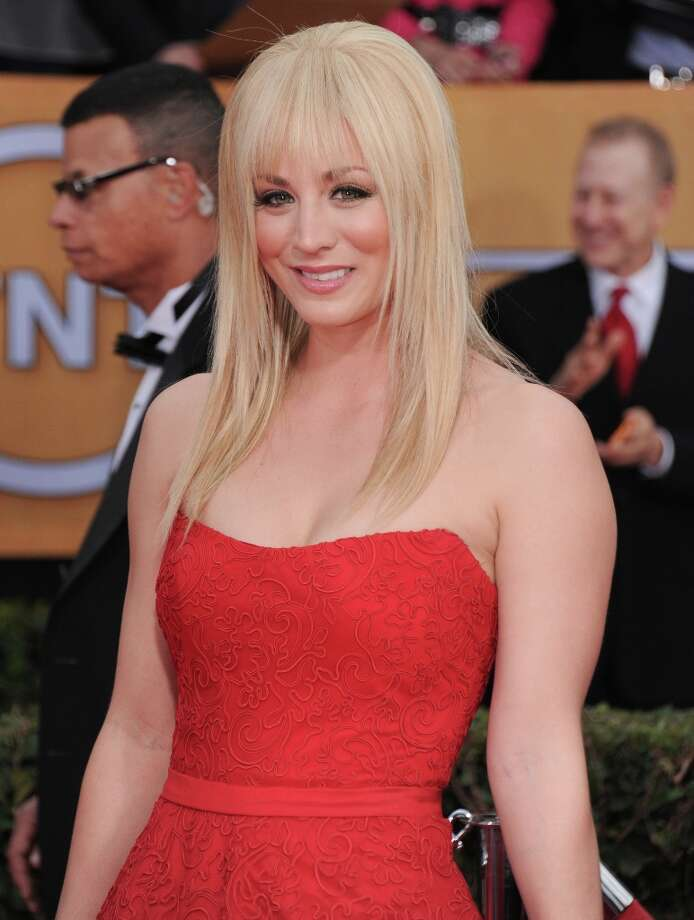 Actress Kaley Cuoco arrives at the 19th Annual Screen Actors Guild Awards at the Shrine Auditorium in Los Angeles on Sunday, Jan. 27, 2013. (Photo by Jordan Strauss/Invision/AP) Photo: Jordan Strauss, Associated Press / Invision