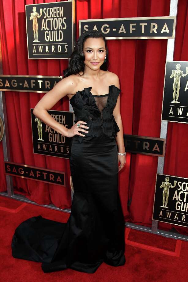 Actress Naya Rivera arrives at the 19th Annual Screen Actors Guild Awards at the Shrine Auditorium in Los Angeles on Sunday, Jan. 27, 2013. (Photo by Matt Sayles/Invision/AP) Photo: Matt Sayles, Associated Press / Invision