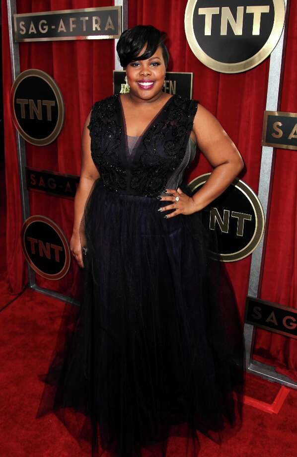Actress Amber Riley arrives at the 19th Annual Screen Actors Guild Awards at the Shrine Auditorium in Los Angeles on Sunday, Jan. 27, 2013. (Photo by Matt Sayles/Invision/AP) Photo: Matt Sayles, Associated Press / Invision