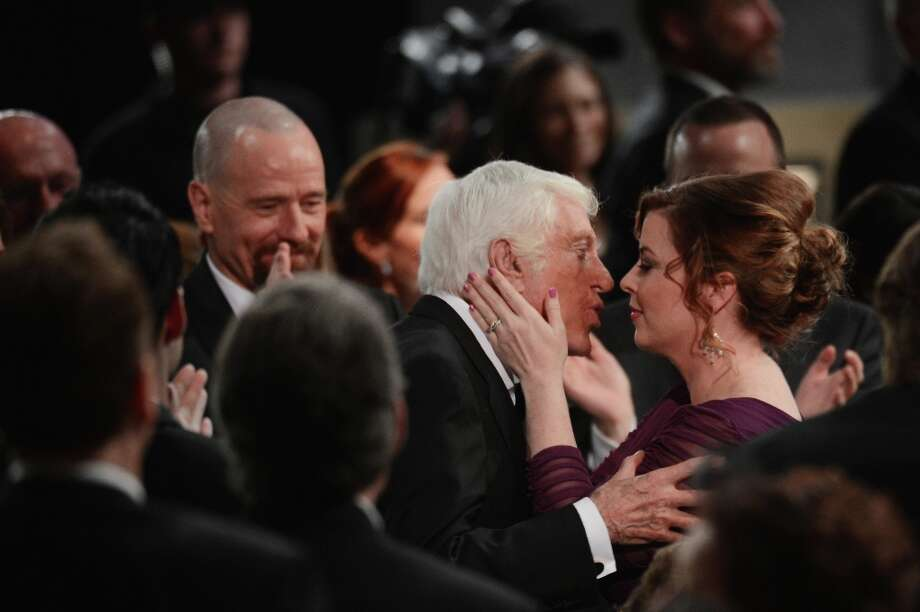 LOS ANGELES, CA - JANUARY 27:   Life Achievement Award winner Dick Van Dyke (C) is congratulated by Arlene Silver (R) during the 19th Annual Screen Actors Guild Awards held at The Shrine Auditorium on January 27, 2013 in Los Angeles, California. Photo: Mark Davis, Getty Images / 2013 Getty Images