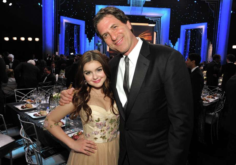 Ariel Winter, left, and Steven Levitan pose in the audience at the 19th Annual Screen Actors Guild Awards at the Shrine Auditorium in Los Angeles on Sunday Jan. 27, 2013. (Photo by John Shearer/Invision/AP) Photo: John Shearer, Associated Press / Invision