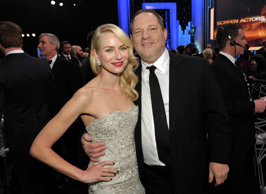 Naomi Watts, left, and Harvey Weinstein pose in the audience at the 19th Annual Screen Actors Guild Awards at the Shrine Auditorium in Los Angeles on Sunday Jan. 27, 2013. (Photo by John Shearer/Invision/AP) Photo: John Shearer, Associated Press / Invision