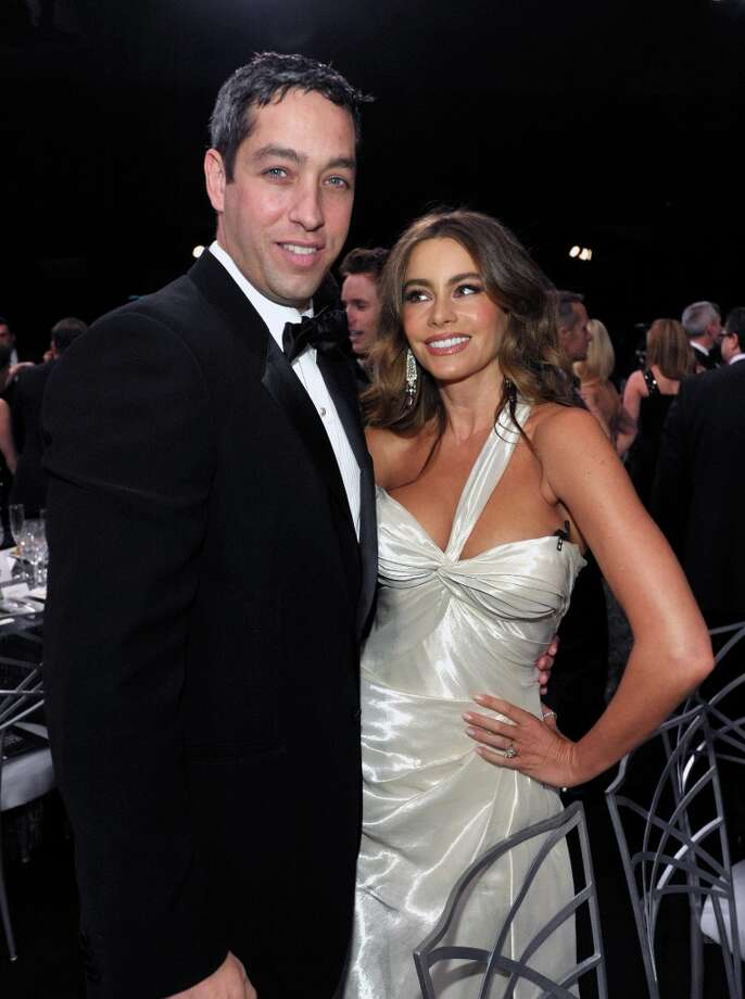 Nick Loeb, left, and Sofia Vergara pose in the audience at the 19th Annual Screen Actors Guild Awards at the Shrine Auditorium in Los Angeles on Sunday, Jan. 27, 2013. (Photo by John Shearer/Invision/AP) Photo: John Shearer, Associated Press / Invision