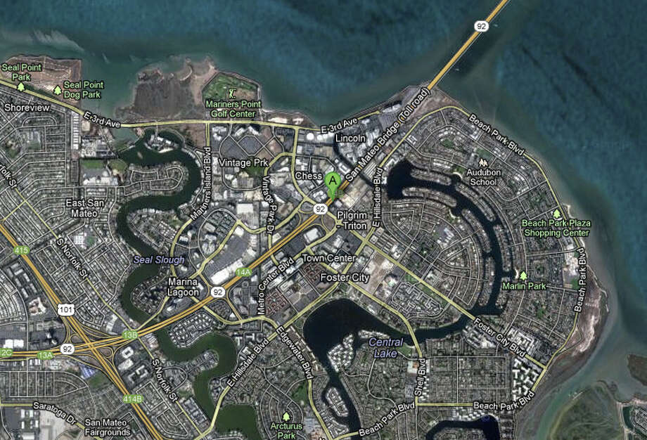 Hwy 92 and Foster City Blvd. Photo: Google Maps