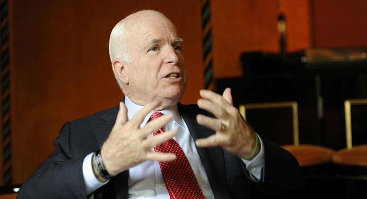 John McCain, one of eight senators seeking comprehensive immigration reform.